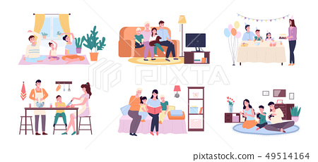Family Spending Time Together, Moments of Life 49514164