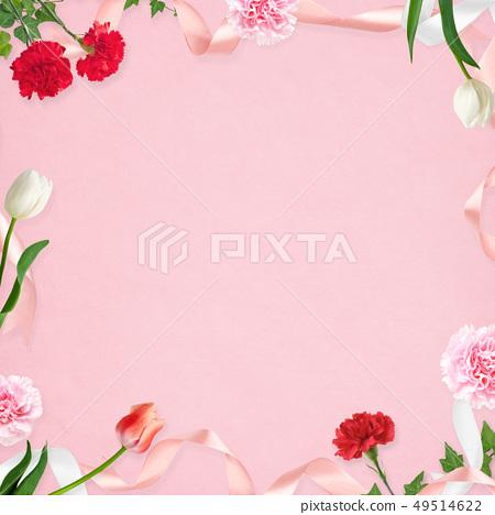 배경 - 카네이션 - 어머니 날 - 핑크 - 프레임 49514622