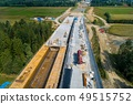 Aerial drone view on road construction 49515752
