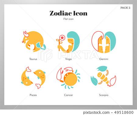 Zodiac icon flat pack 49518600