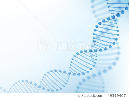 DNA chromosome concept. Science technology vector background for biomedical, health, chemistry 49519407