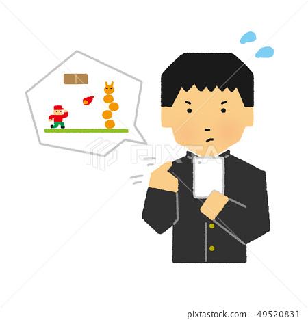 학생, 중고생, 남성, 스마호게무, 스마트 폰, 게임, 응용 프로그램 (간단한 터치) 49520831