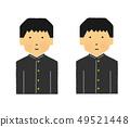 学生,高中生,男性,微笑,真实的脸,集,男性,笑(简单的触摸) 49521448
