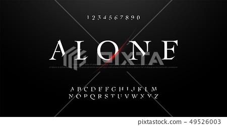 Horror, scary movie alphabet font. Typography 49526003