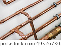 copper pipes and fittings for carrying out plumbing work  49526730