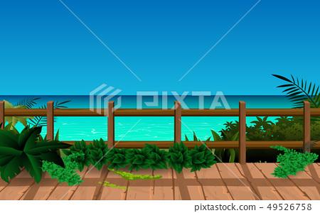 boardwalk on the beach 49526758