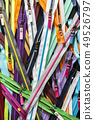 lots of zippers for clothes of different size   49526797
