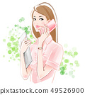 商務OL智能手機和PC新鮮綠色 49526900
