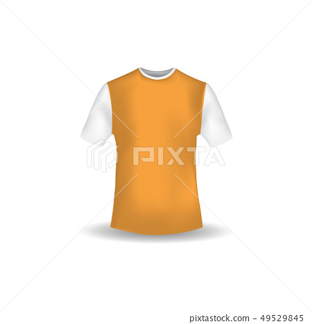 T Shirt Mockup Design Template Vector Stock Illustration
