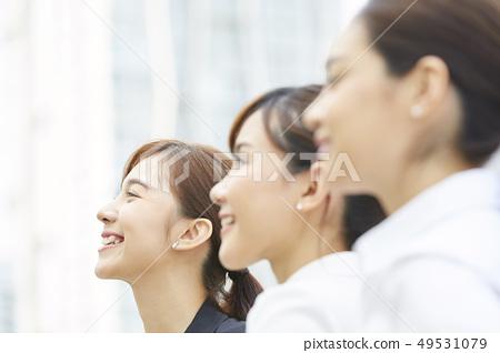여성 비즈니스 면접 49531079