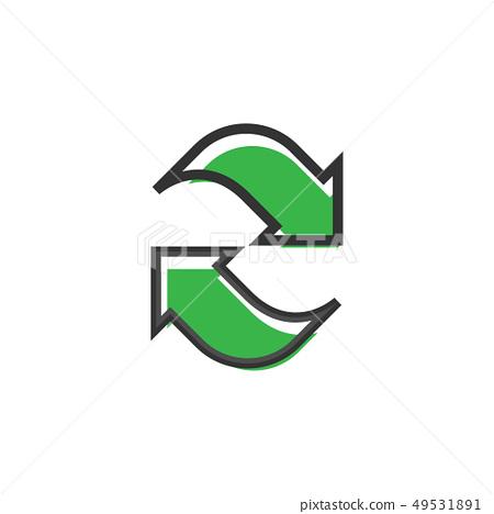 Refresh icon graphic design template vector 49531891