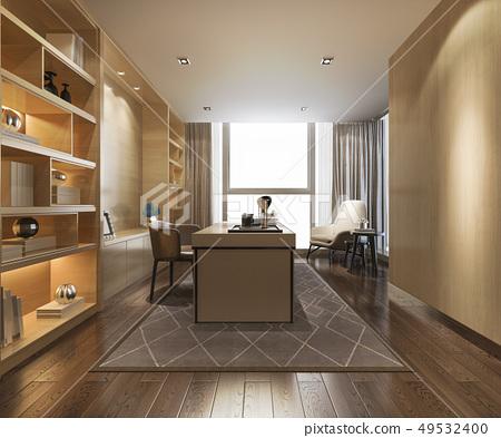 modern luxury working room  49532400