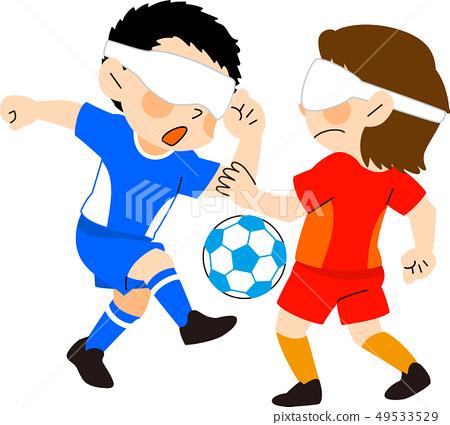 Parasport盲目的橄欖球例證 49533529