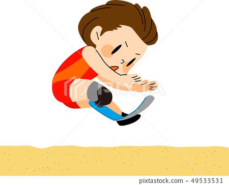 파라 스포츠 멀리뛰기 일러스트 49533531
