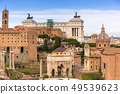 Architecture of the Roman Forum in Rome, Italy 49539623