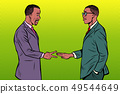 african businessmen game rock paper scissors 49544649