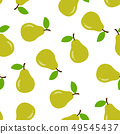 Seamless pattern with pear 49545437