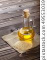 sesame oil in glass bottle 49553039