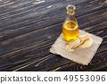 sesame oil in glass bottle 49553096