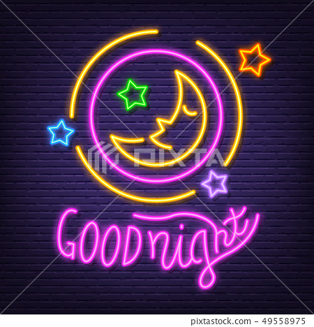 good night neon signboard 49558975