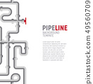 Pipelines poster concept. Pipes pattern, boiler room, piping, plumbing banner design template for 49560709