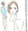 しく女性女性誰關心衰老美容皮膚問題 49560976