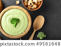 soup puree in a plate 49561648