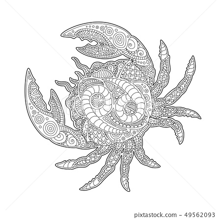 Coloring Page Pattern Zodiac Sign Scorpio Stock Vector (Royalty ... | 447x450