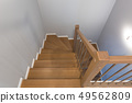 Staircase interior with new wooden steps 49562809