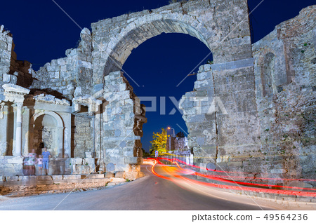 The Vespasian gate to the ancient city of Side  49564236