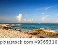 Beautiful Caribbean Sea beach in Playa del Carmen 49565310