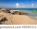 Beautiful Caribbean Sea beach in Playa del Carmen 49565311