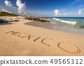 Beautiful Caribbean Sea beach in Playa del Carmen 49565312