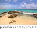 Beautiful Caribbean Sea beach in Playa del Carmen 49565314