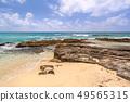 Beautiful Caribbean Sea beach in Playa del Carmen 49565315