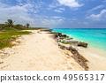 Beautiful Caribbean Sea beach in Playa del Carmen 49565317