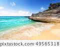 Beautiful Caribbean Sea beach in Playa del Carmen 49565318