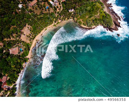 Hiriketiya Beach in Sri Lanka aerial view 49566358