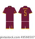 T-shirt sport design template for soccer jersey, 49566507