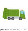 Modern green garbage truck 49567173