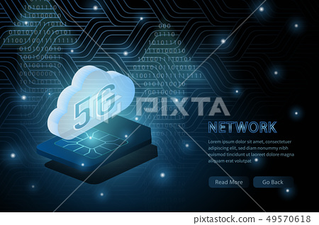5G wifi wireless technology template background 49570618