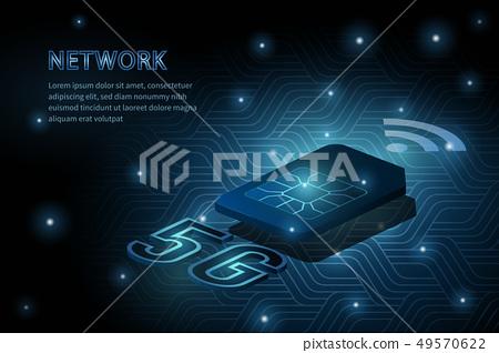 5G wifi wireless technology template background 49570622