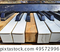 Old piano keys,music background 49572996