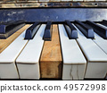 Old piano keys,music background 49572998