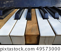 Old piano keys,music background 49573000