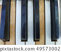 Old piano keys,music background 49573002