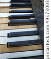Old piano keys,music background 49573003