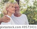 老年的 夫妇 一对 49573431