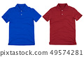 Set of polo shirt solated on white background. 49574281