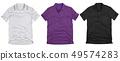 Set of polo shirt solated on white background. 49574283